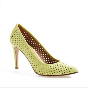 "HALOGEN ""Mandie"" Perforated Pointy Toe Pumps"
